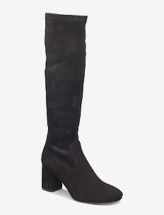 Long Boots 7274 - langskaftede - black suede/black stretch 50