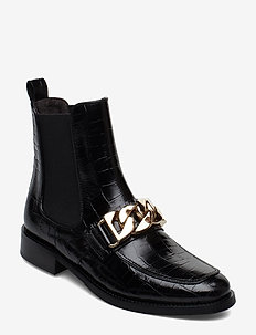 BOOTS - BLACK CROCO/GOLD 402X