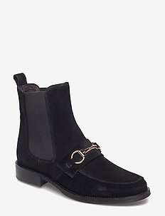 BOOTS - BLACK SUEDE/GOLD 502