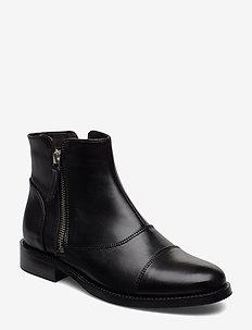 BOOTS - lage hakken - black calf/silver 603
