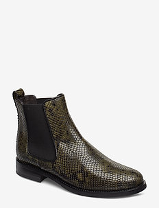 Boots 7913 - bottes chelsea - green 616 snake 36 r