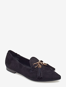 SHOES 8024 - BLACK SUEDE/GOLD 502