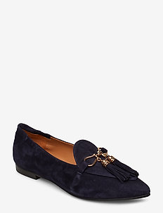 SHOES 8024 - NAVY SUEDE/GOLD 512
