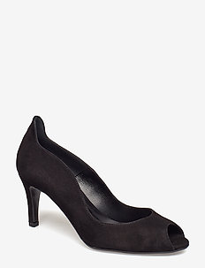 Pumps 8080 - escarpins à bout ouvert - black suede 50