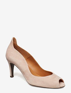 Pumps 8080 - escarpins à bout ouvert - light rose suede 589