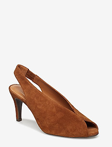 PUMPS 8083 - sling backs - cognac 637 suede 564