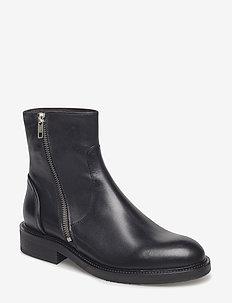 Boots 813102 - tasapohjaiset nilkkurit - black calf 80