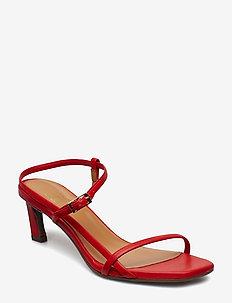 SANDALS 8146 - heeled sandals - red rubino nappa 79