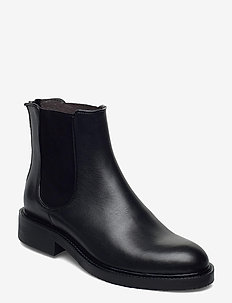 Boots 83451 - chelsea boots - black calf/red 809