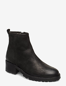 Warm lining 83731 - heeled ankle boots - black varese 90