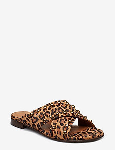 Slipper 8628 - LEOPARDO SUEDE/GOLD 540