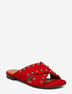 Slipper 8628 - SUMMER RED 1577/GOLD 773