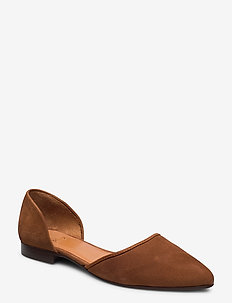Shoes 8660 - baleriny - cognac 637 suede 555