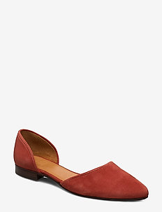 Shoes 8660 - ballerinaer - rust aragosta suede 599