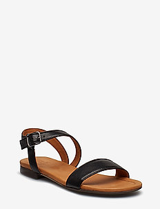 Sandals 8714 - flat sandals - black calf/light sole 80