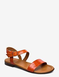 Sandals 8714 - flat sandals - coral croco27