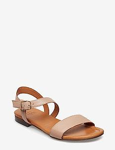 Sandals 8714 - flate sandaler - nude buffalo 88