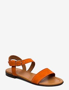 Sandals 8714 - flade sandaler - orange tiger suede 557