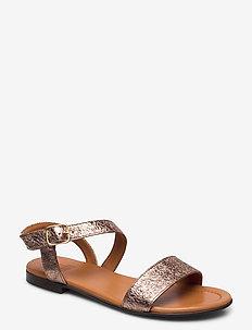 Sandals 8714 - flade sandaler - rose metalloc 008