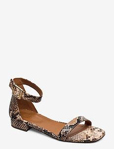 SANDALS 8715 - flade sandaler - dark beige 6071 snake 34 l