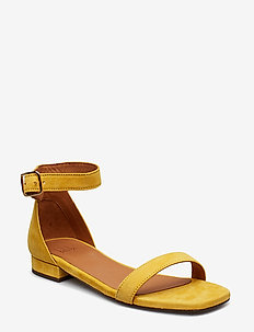 SANDALS 8715 - flade sandaler - yellow 1795 suede 55