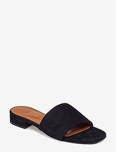 SANDALS 8718 - matalat sandaalit - black suede 50
