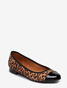 SHOES 8811 - BL.PATENT/LEOPARDO SUEDE 546