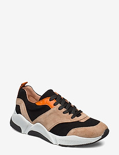 Sport 8840 - chunky sneakers - beige/black/orange suede 572