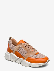 SHOES 8853 - chunky sneakers - orange/beige comb.