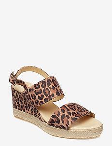 ESPADRILLA 8932 - heeled espadrilles - leopardo suede 542
