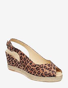 ESPADRILLA 8936 - heeled espadrilles - leopardo suede 542