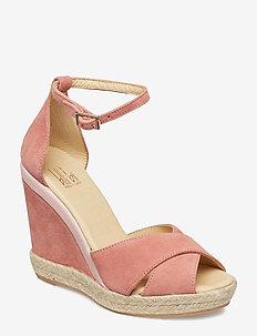 ESPADRILLA 8940 - espadrilles met sleehak - blush pink suede 578