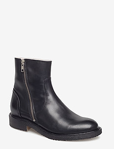 Boots 913102 - flat ankle boots - black calf 80