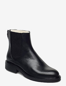 Boots 97934 - flat ankle boots - black calf 80