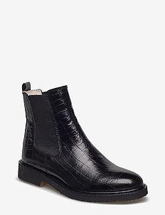 Warm lining 97952 - bottes chelsea - black croco 10