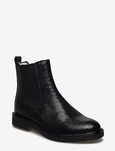Warm lining 97952 - bottes chelsea - black python 20