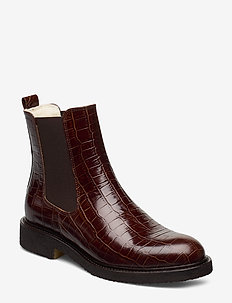 Warm lining 97952 - bottes chelsea - cognac saddle croco 15
