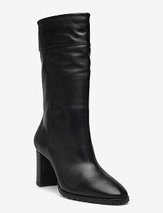 Long Boots - ankelstøvler med hæl - black nappa