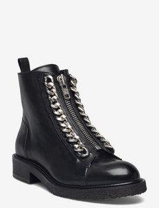 Boots - flache stiefeletten - black buffalo/silver 803