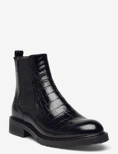 Boots - chelsea støvler - black luisiana croco 10