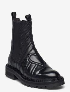 Boots - chelsea boots - black polido/calf 980