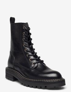 Boots - niski obcas - black itaca calf 80