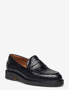 Shoes A1491 - loafers - black polo tenerife 20
