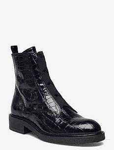 Boots - flache stiefeletten - black monterrey croco 20 i1