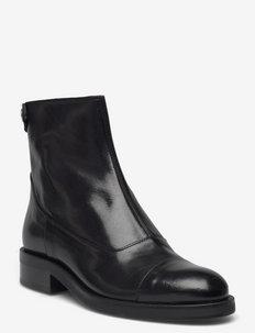 Boots - flate ankelstøvletter - black baby buffalo 603
