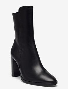 Boots - wysoki obcas - black calf