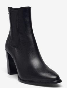 Boots - ankelstøvler med hæl - black calf 80