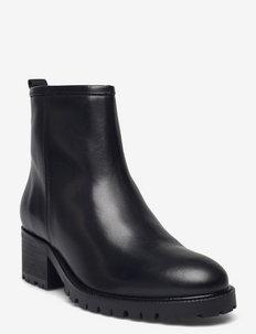 Warm lining A83732 - ankelstøvler med hæl - black calf 80