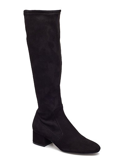 BOOTS - BLACK SUEDE/STRETCH 500