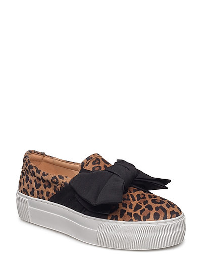 SHOES - LEOPARDO/BLACK SATIN 549